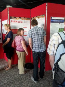 Me presenting my posters at TPDL2013
