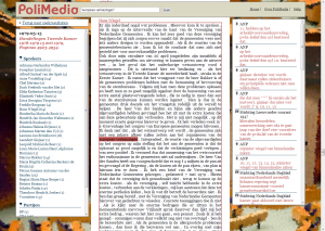 Figure 2. Screenshot of the PoliMedia debate page