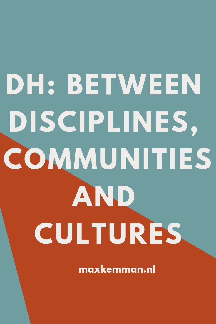 DH: between disciplines, communities, and cultures